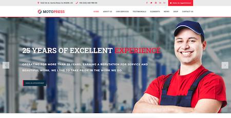 website example to market a repair shop
